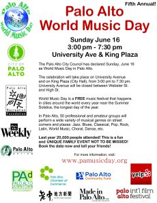 + + +  Palo Alto World Music Day - 2013